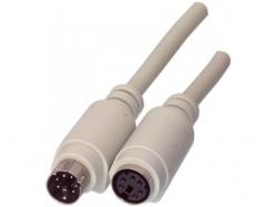Cablu prelungire tastatura PS2 tata - PS2 mama 1.8m ; Cod EAN: 5412810069736