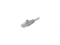 Cablu retea CAT 5e U/UTP 2xRJ45, neecranat, gri; Cod EAN: 4040849686115