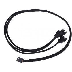 Cablu Splitter Phobya de la 4-pini PWM la 3x4-pini PWM - 60cm - sleeving culoare neagra,Phobya1011109