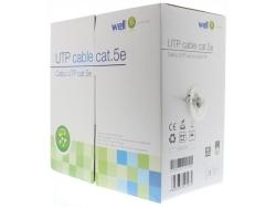 Cablu UTP cat.5e, 8 fire din cupru 0.49mm, 305m, Well; Cod EAN: 5948636002980 - pret pe metru liniar