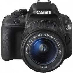 Camera Foto Canon DSLR EOS 100D + Obiectiv EF-S 18-55 IS Black