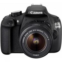 Camera Foto Canon DSLR EOS 1200D + Obiectiv EF-S 18-55 IS Black