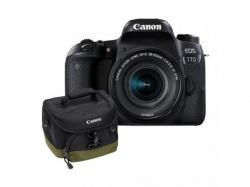 Camera Foto Canon EOS 77D, 24.2MP, Black + Obiectiv 18-55mm f/4-5.6 STM + Rucsac Canon BAG300 + Manual de Fotografie digitala Michael Freeman