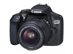 Camera Foto DSLR Canon EOS 1300D, 18MP, Black + Obiectiv 18-55 IS
