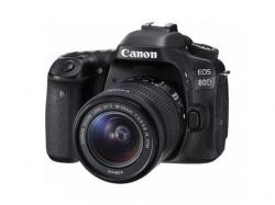 Camera foto DSLR Canon EOS 80D, 24.2MP, Black + Obiectiv EF-S 18-55mm IS STM
