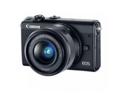 Camera foto Mirrorless Canon EOS M100, 24.2MP, Black + Obiectiv 15-45 mm