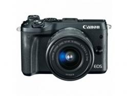 Camera Foto Mirrorless Canon EOS M6, 24.2MB, Black + Obiectiv EF-M 15-45MM