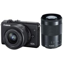 Camera foto Mirrorless Canon M200, 24.1 MP, Black + Obiectiv 15-45mm, Black + Obiectiv 55-200mm, Black