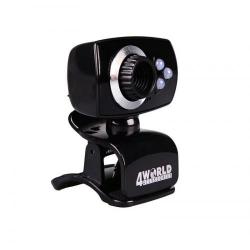 Camera Web 4World 10133 2MP, Black