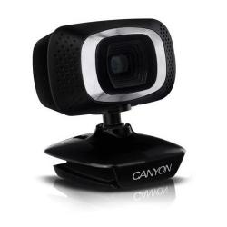 Camera Web Canyon CNE-CWC3N, 2MP, USB, Black-Silver