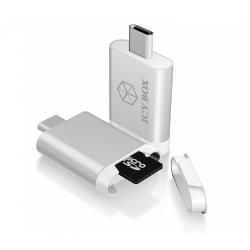 Card Reader Raidsonic IcyBox MicroSD/SDHC, USB-C, Silver