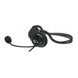 Casti cu microfon ergonomice Manhattan Behind-The-Neck, Black