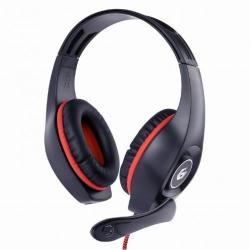 Casti cu microfon Gembird GHS-05-R, Black-Red