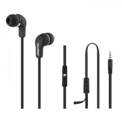 Casti cu microfon Qoltec 50800, Cablu plat 1.2m, Black
