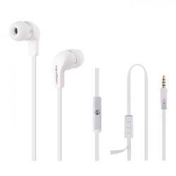 Casti cu microfon Qoltec 50801, Cablu plat 1.2m, White