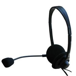 Casti cu microfon Serioux medii, volume control, black, blister, SRXS-H480MV