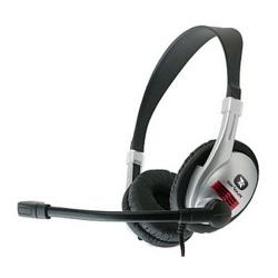 Casti cu microfon Serioux piele+plastic, medii, volume control, EVO6600