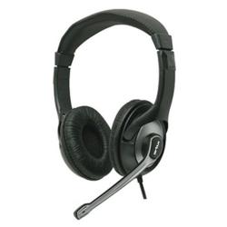 Casti cu microfon Serioux piele+plastic, medii, volume control, EVO7810