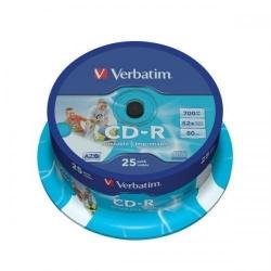 CD-R imprimabil Verbatim AZO 52X, 700MB 25buc, Spindle