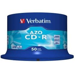 CD-R Verbatim 52x, 700MB, 50 buc, Crystal Spindle