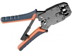 Cleste sertizare pentru mufe modulare RJ9, RJ10, RJ11, RJ12, RJ45 inclusiv taietor de sarma CRIMP04