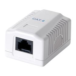 Conector Logilink, Cat.6, UTP, 1x RJ45, White