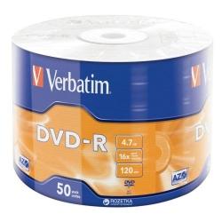 DISC DVD-R VERBATIM DATALIFE SPINDLE/50