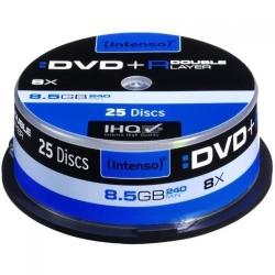 DVD+R Intenso DoubleLayer 8x, 8.5GB, 25buc