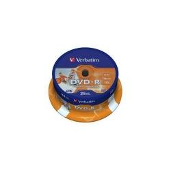 DVD-R Verbatim 16x, 4.7GB, 25buc, Spindle