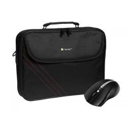 Geanta Tracer Bonito pentru Laptop de 15.6inch, Black + Mouse Wireless Tracer
