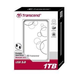 Hard Disk Portabil Transcend StoreJet 25A3 1TB, white, 2.5inch