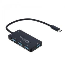 Hub USB Akyga AK-AD-52, 4x USB 3.2 gen 1, Black