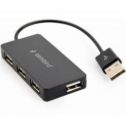 HUB USB Gembird UHB-U2P4-04, 4x USB 2.0, Black