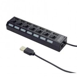 Hub USB Gembird UHB-U2P7-03, 7x USB 2.0, Black