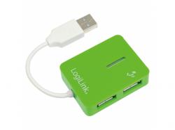 Hub USB LogiLink Smile UA0138, 4x USB 2.0, Green
