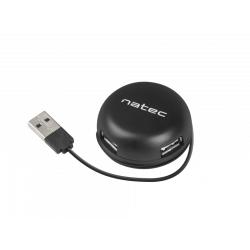 Hub USB Natec Bumblebee, 4x USB 2.0, Black