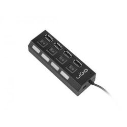 Hub USB Natec Genesis UGO MAIPO, 4x USB 2.0, Black