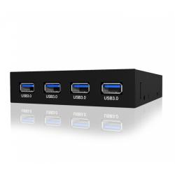 Hub USB Raidsonic IcyBox, 4xUSB 3.0, 3.5inch, Black