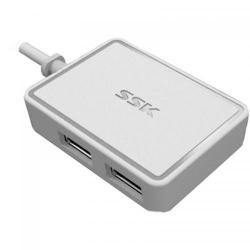 Hub USB SSK SHU200-WH 4xUSB 2.0, alb