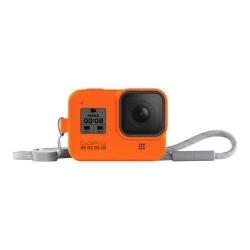 Husa de protectie GoPro cu snur pentru Hero 8 Black, Hyper Orange