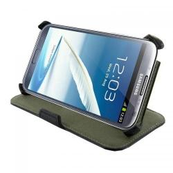 Husa protectie 4World 09132, pentru Galaxy Note 2, cu suport, 5.5inch, Black