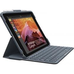 Husa/Stand Logitech Slim Folio cu tastatura pentru tableta de 9.7inch, Layout UK, Black