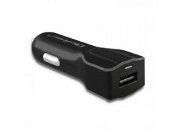 Incarcator auto Qoltec 50128, 1x USB, 2.4A, Black
