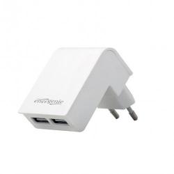 Incarcator Gembird EG-U2C2A-02-W, 2x USB, 2.1A, White