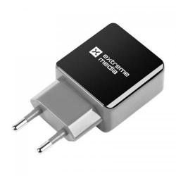 Incarcator Natec NUC-0994, 1x USB, 1.2 A, Black-Grey