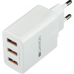Incarcator retea Canyon CNE-CHA05W, 3x USB, 2.4A, White