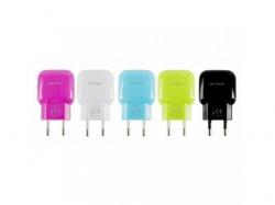 Incarcator retea Serioux, 1x USB, 2A, Diverse culori, Bulk