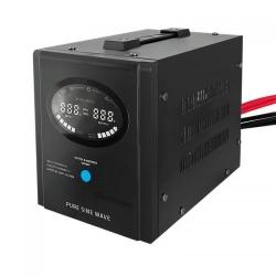 Invertor tensiune Qoltec 53880, DC/AC de la 12V DC la 230V AC, 300W, Black
