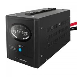 Invertor tensiune Qoltec 53884, DC/AC de la 12V DC la 230V AC, 700W, Black
