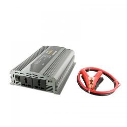 Invertor tensiune Whitenergy 06587 DC/AC de la 12V DC la 230V AC 1000W, 2 AC receptacle